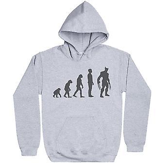 Evolution till Wolverine-mens hoodie