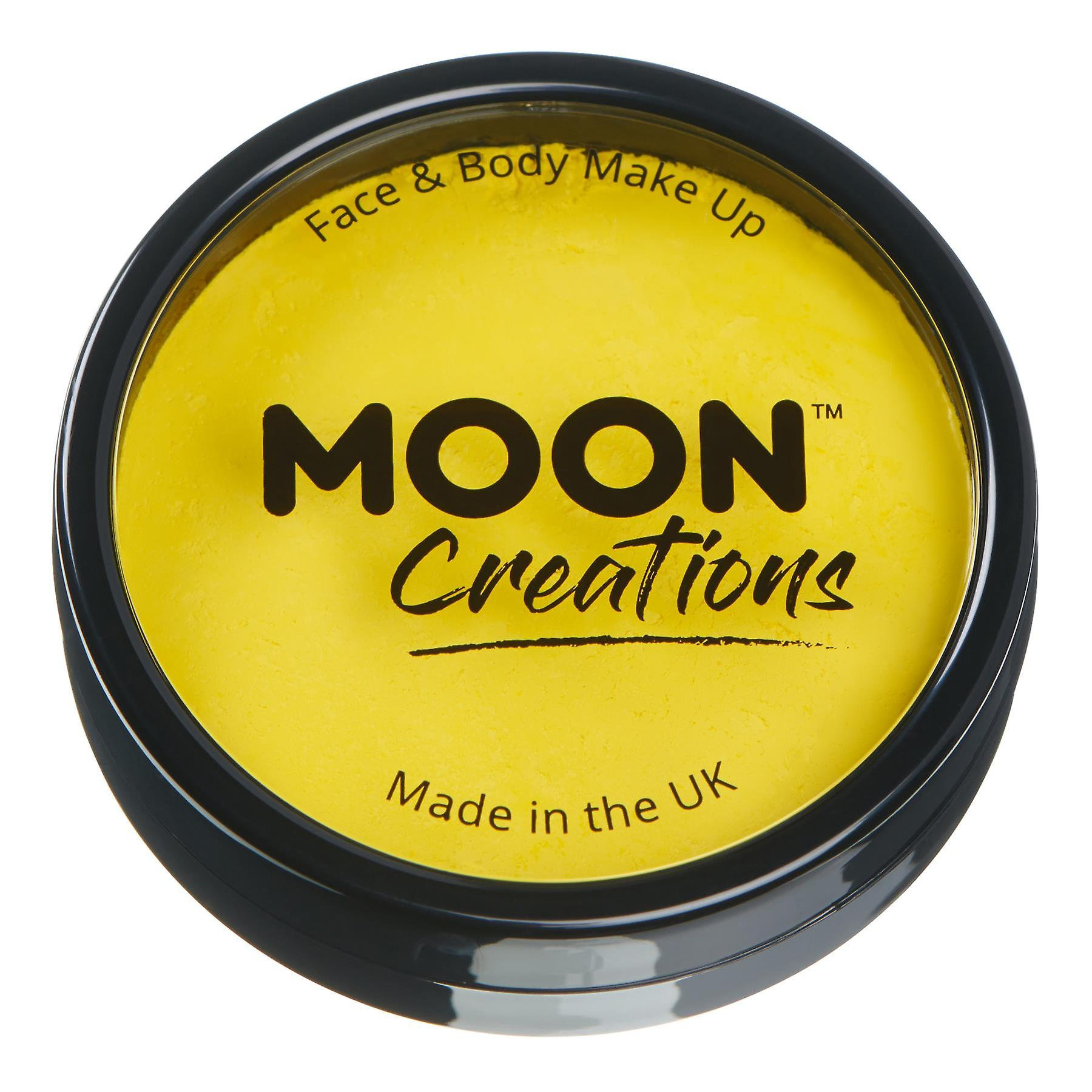 Moon Creations - Pro Face & Body Paint Cake Pots - Bright Yellow