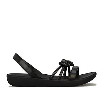 Womens Fitflop Tiera Back Strap Sandals In Black