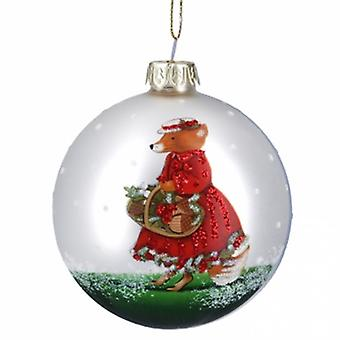 Gisela Graham Mr/Mrs Fox Matt White Bauble
