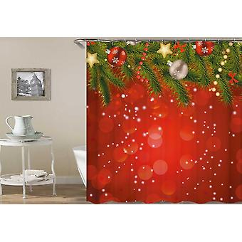 Classic Red With Christmas Ornaments Shower Curtain