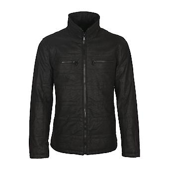 Leo faux skinn kappa i svart