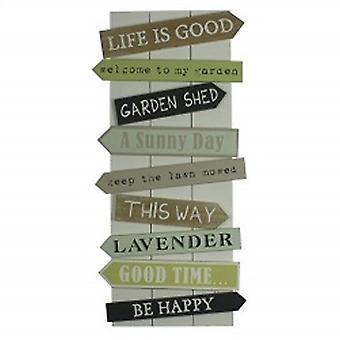 Garden Quotes Wall Feature Sign