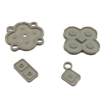 Zedlabz replacement conductive rubber pad button contacts gasket kit for nintendo dsi original