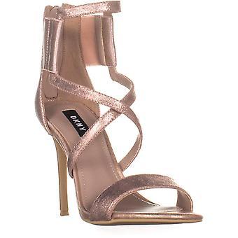 DKNY Womens Lil multi couro aberto Toe ocasião especial sandálias de tiras