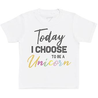 Today I Choose To Be A Unicorn Kids T-Shirt