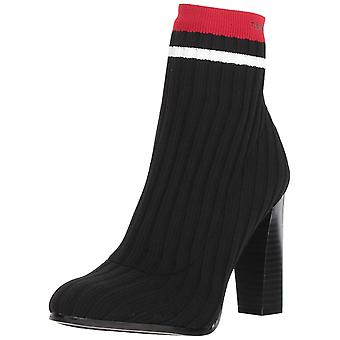 Calvin Klein Women's Antonette Ankle Boot Black/Rouge 6 M, Black/Rouge, Size 6.0