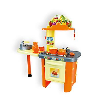 Mochtoys children's kitchen 86 cm 10154 with counter, sink, oven, lots of accessories