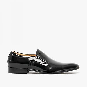 Blakeseys Fleming Mens Patent Leather Slip On Shoes Black
