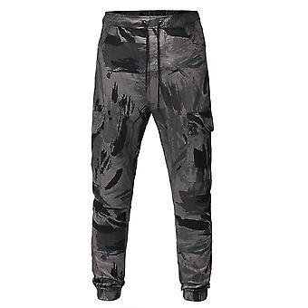 Allthemen Men's Casual Daily Cool Camouflage Drawstring Sport Capri-pants