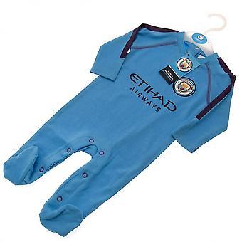 Manchester City FC Baby Unisex Sleepsuit