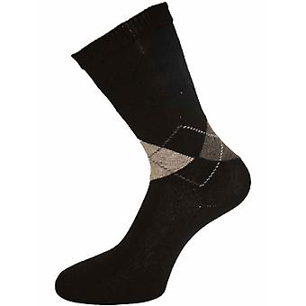 HJ Hall COTTON ARGYLE SOFTOP Non Elastic Sock
