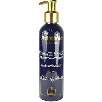 Admiral Hydrate & Shine 2 in 1 Shampoo & Conditioner With Avacado 200ml