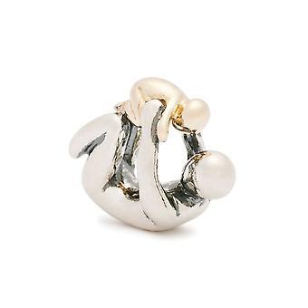 Trollbeads Paternity Argento & 18ct Perline d'oro