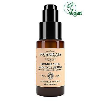 Botanicals Natural Organic Skincare Pro Balance Radiance Serum Green Tea 30g Sensitive, Co