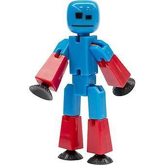 Stikbot الرقم الأزرق مع الأسلحة الحمراء