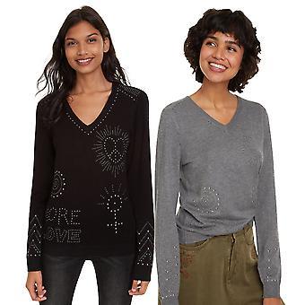 Desigual Women's Kensington Studded Love Sweater