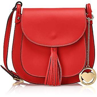 Chicca Bags Cbcad001tar Men's Shoulder Bag Red 7x21x23 cm (W x H x L)