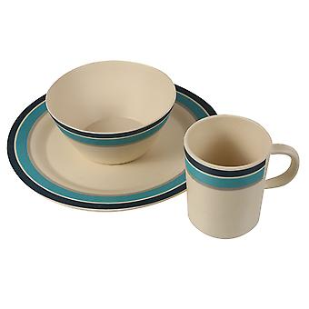 Regatta Herren zwei Set Bambus Crockery Set
