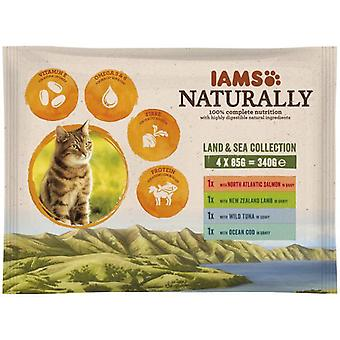 IAMS Naturally Adult Cat Land & Sea Collection 12x85g (Cats , Cat Food , Wet Food)