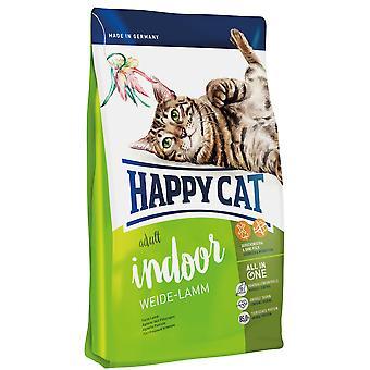 Happy Cat Indoor Cat Food Weide-Lamm Lamb (Cats , Cat Food , Dry Food)