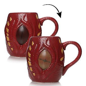 El efecto térmico de la copa Hobbit Smaug Awaken the Beast rojo, 100% cerámico, zócalo÷gen aprox. 450 ml., en envoltorio de regalo.