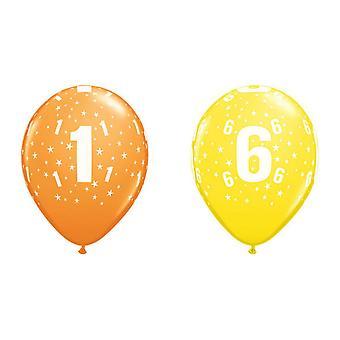 260Qs 11 polegadas multicolor látex números balões de aniversário (idade 1-100)