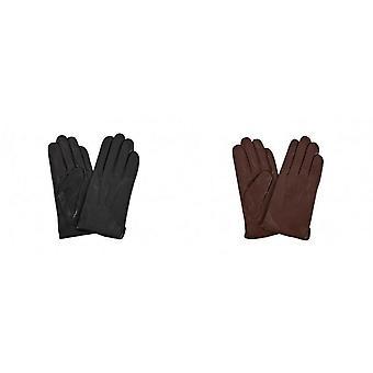 Guanti in dettaglio contee orientali in pelle Mens 3 punto maglia