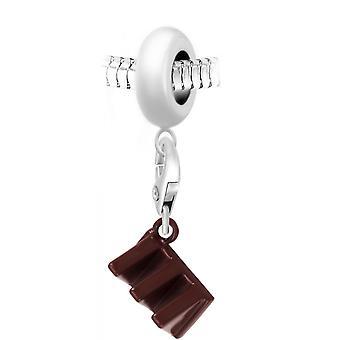 Chocolate Pearl Charm från SC Crystal Paris BEA0044-CH0144-silver