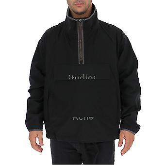 Acne Studios B90171z320black Män's Svart Nylon Ytterkläder Jacka