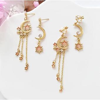 Choice of gold moon & star earrings