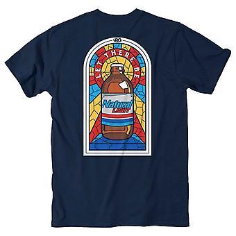 Natural Natty Light Stained Glass Rowdy Gentleman Men's Blue T-Shirt