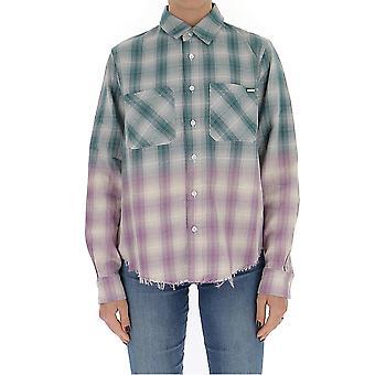 Amiri Y0w06449pdgreen Women's Multicolor Cotton Shirt