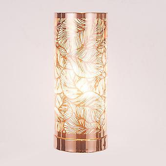IEP Weiß-Rose Gold Blatt Muster Aroma Lampe