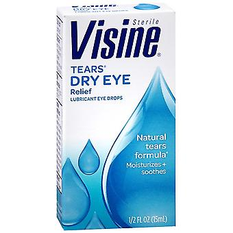 Visine tears lubricant eye drops, 0.5 oz