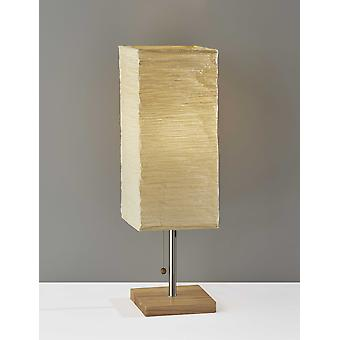 "8"" "" X 8"" X 25"" Natural Shade Table Lamp"