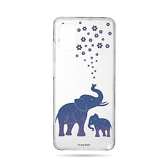 Hull For Samsung Galaxy A71 Flexible Blue Elephant