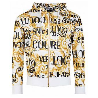Versace Jeans Couture Baroque Print Zip Through Hoody
