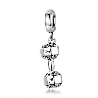 Sterling Silver Pendant Charm Dumbbell - 6377
