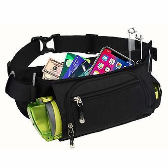 Bolsa de cintura con portabotellas - negro