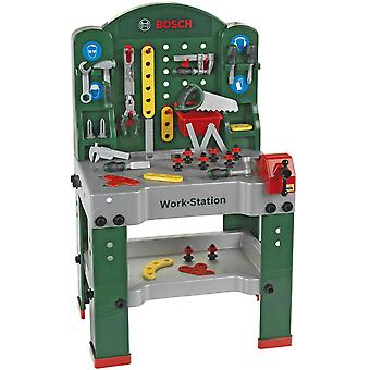 Theo Klein Bosch Workstation 44PC with Tools For Ages 3+ and Above
