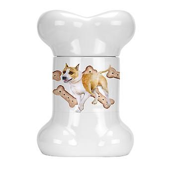 Carolines Treasures  CK2224BSTJ American Staffordshire Bone Shaped Treat Jar