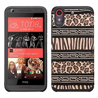 ASMYNA Advanced Armor Case pour HTC Desire 555 - Zebra Skin-Leopard Skin/Black