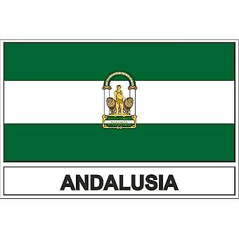 Autocollant sticker drapeau  andalousia andalousie