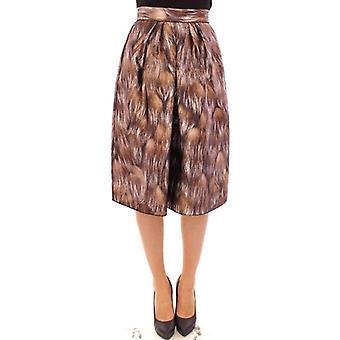 Dolce Gabbana Браун цветочные шелковые прямой юбкой--GSS1742853 &