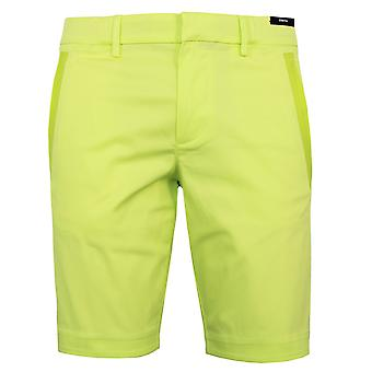 Hugo boss men's liem4-10 fluorescent green stretch chino shorts