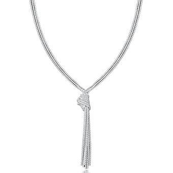 Collar de cadena de KJ Beckett nudo clásico palomitas - plata