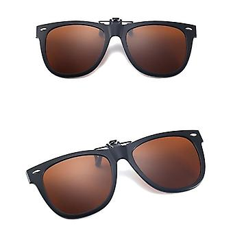 Sunglasses clip on/flip up polarized UV glasses