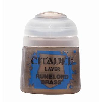 Runelord Brass (12ml), Citadel Paint - Layer, Warhammer 40,000/Age of Sigmar