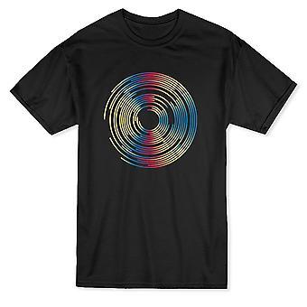 Solar Kreis Grafik Herren T-shirt